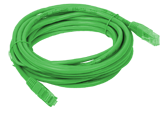 Patchcord UTP cat.5e, 1m GREEN